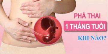 Cách phá thai dưới 1 tháng tuổi